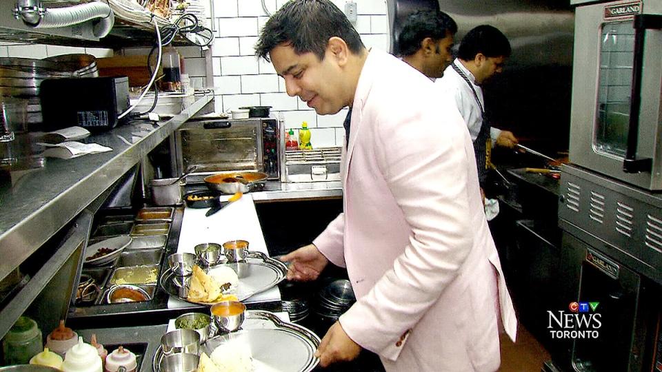 Restaurant owner Hemant Bhagwani.
