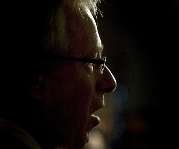 Liberal Leader Stephane Dion answers a reporters question after Parliament was prorogued in Ottawa, on Thursday Dec.4, 2008. (Fred Chartrand / THE CANADIAN PRESS)