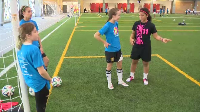 The second annual Desiree Scott soccer camp was held the United Health and RecPlex at the University of Winnipeg.