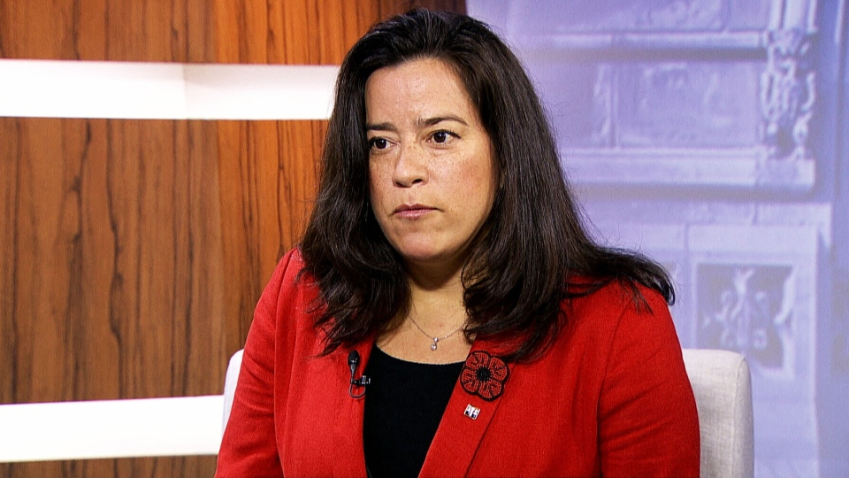 Minister of Justice Jody Wilson-Raybould  appears on CTV's Question Period on Sunday, Nov. 8, 2015.