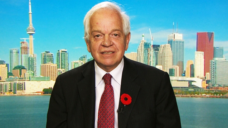 Minister of Immigration John McCallum appears on CTV's Question Period on Sunday, Nov. 8, 2015.