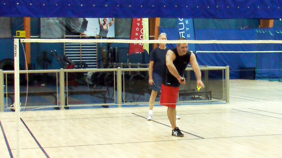 Stephane Boily adapted his movements to play soccer, baseball, football and more recently, badminton.