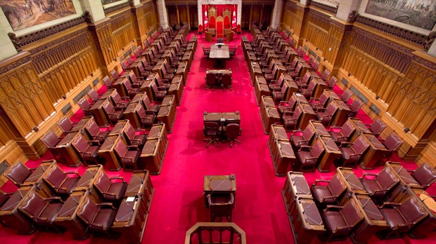 The Senate chamber on Parliament Hill is seen May 28, 2013. (The Canadian Press/Adrian Wyld)