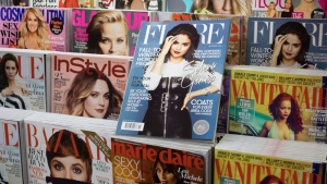 A copy of Flare magazine is seen at a news stand in Montreal, Saturday, Nov. 7, 2015. (THE CANADIAN PRESS/Paul Chiasson)