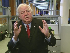 Former governor general Edward Schreyer speaks to CTV from Winnipeg on Wednesday, Dec. 3, 2008.