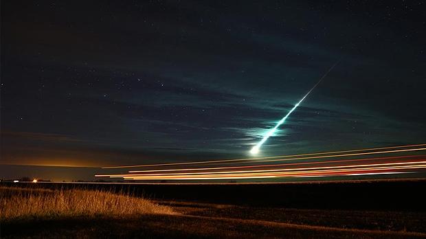 A meteor in the sky near Weyburn, Sask.