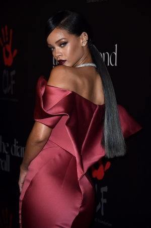 Rihanna arrives at the 1st Annual Diamond Ball on Thursday, Dec. 11, 2014 in Los Angeles. (Jordan Strauss/Invision/AP)