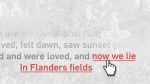 Flanders Field poem interactive