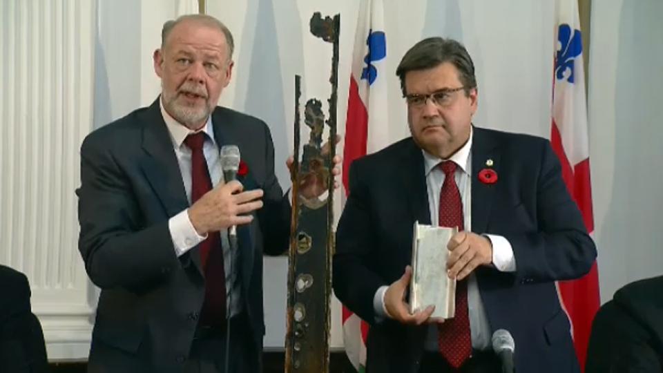 Richard Fontaine and Mayor Denis Coderre