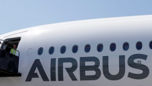 An Airbus passenger airplane is parked at Newark Liberty international airport in Newark, N.J., Thursday, July 16, 2015. (AP Photo/Mel Evans)