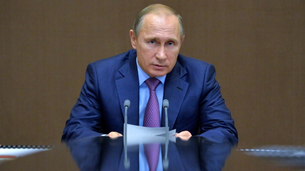 Vladimir Putin in Sochi, Russia