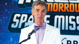 In this July 16, 2015 file photo, Bill Nye attends the Disney Junior and XPRIZE launch of 'Miles from Tomorrowland: Space Missions' at the New York Hall of Science, in New York. (Andy Kropa / Invision)