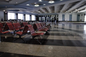 In this Monday, Nov. 9, 2015 file photo, the arrival hall is empty at the Sharm el-Sheikh Airport in south Sinai, Egypt. (AP / Ahmed Abd El-Latif)