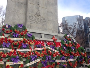 Remembrance Day ceremony at Regina cenotaph