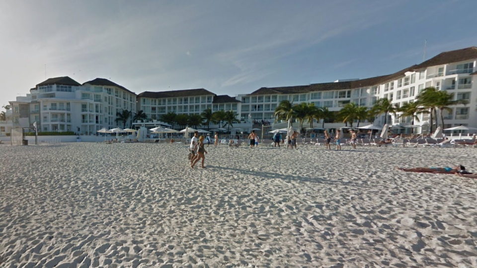 The Playacar Palace hotel in Playa del Carmen is seen in this Google Streetview image.