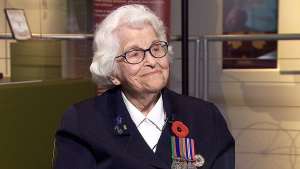 Canadian veteran Elsa Lessard speaks to CTV's Power Play on Nov. 11, 2015.