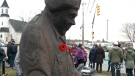 CTV Atlantic: Wooden statue stands guard