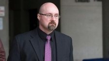 Former teacher Ryan Jarvis is seen outside the courthouse in London, Ont. in this undated file photo. (Source: The London Free Press)