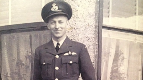 Reg Harrison in his Air Force uniform
