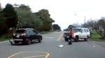 Vehicle smashes another in road rage incident