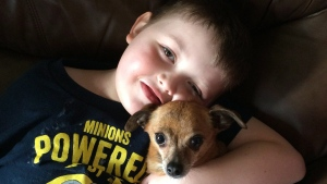 Evan Leversage, 7, poses in this recent family handout photo. (Shelly Wellwood)