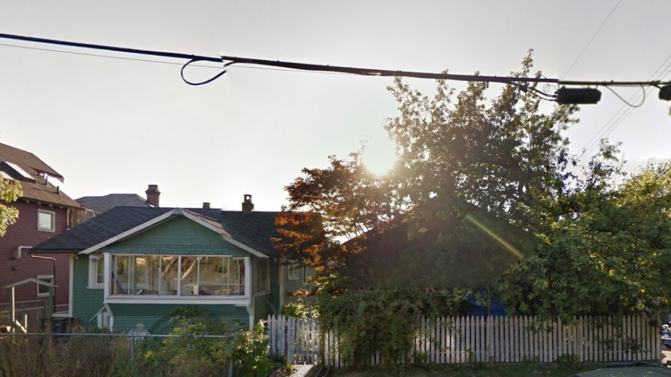 This photo from Google Streetview shows one of the houses up for auction this week.