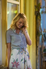 "This photo provided by Sony Pictures Entertainment shows Emma Stone, in a scene from Columbia Pictures' ""Aloha.""  (Neal Preston/Sony Pictures Entertainment via AP)"