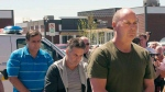 FILE - Former Montreal Maine and Atlantic Railway Ltd. employees Tom Harding, right, Jean Demaitre, centre, and Richard Labrie are escorted by police to appear in court in Lac-Megantic, Que., on Tuesday, May 13, 2014. They have pleaded not guilty. THE CANADIAN PRESS/Ryan Remiorz