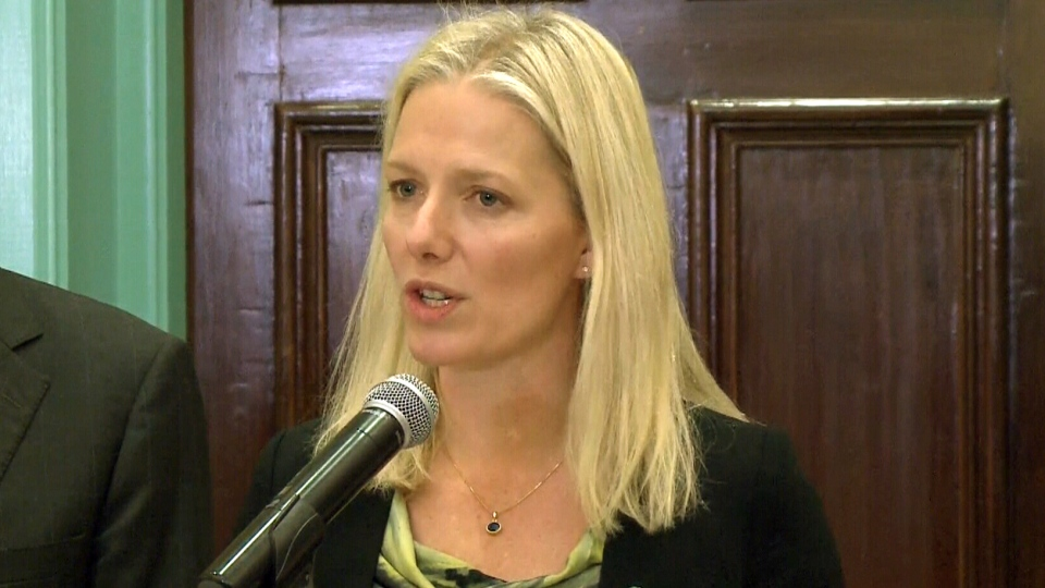 Environment and Climate Change Minister Catherine McKenna speaks with reporters in Ottawa on Friday, Nov. 13, 2015.