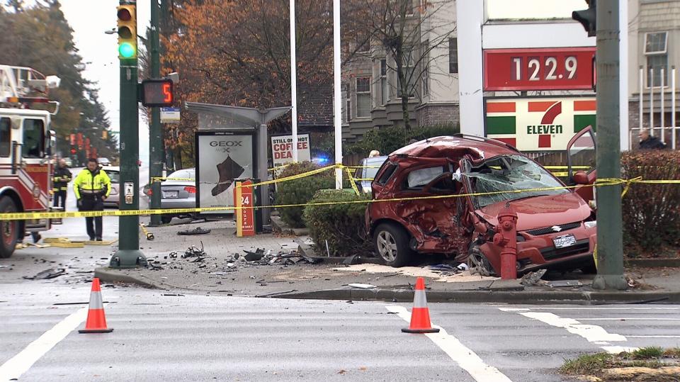 Senior killed, man injured in fatal Vancouver car crash   CTV News