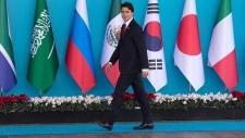 Prime Minister Justin Trudeau arrives at G20