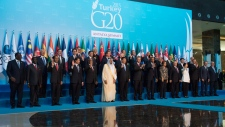 Family photo at the G20 Summit in Antalya, Turkey