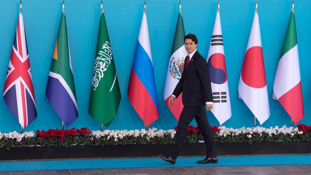 PM Justin Trudeau arrives at the G20 summit