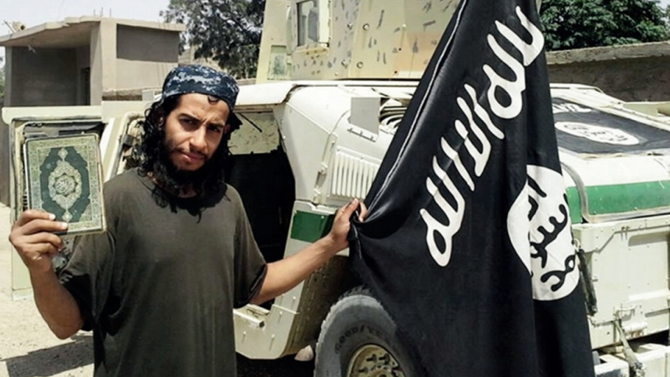 Abdelhamid Abaaoud in an undated image from the Islamic State's English-language magazine Dabiq. (Militant Photo via AP)