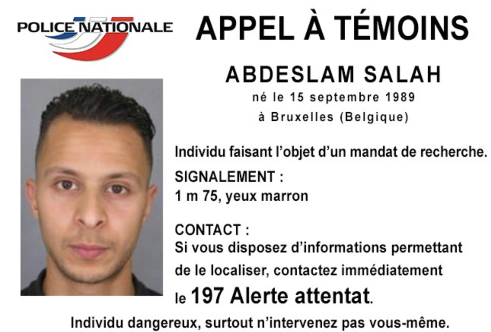 This photo released by French Police shows 26-year old Salah Abdeslam, who is wanted by police in connection with recent terror attacks in Paris.