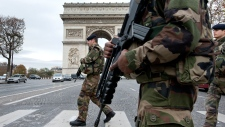Champs Elysees Paris raids France silent