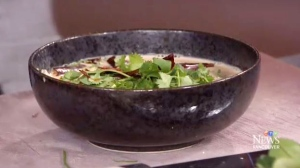 Warm up with delicious Thai chicken soup