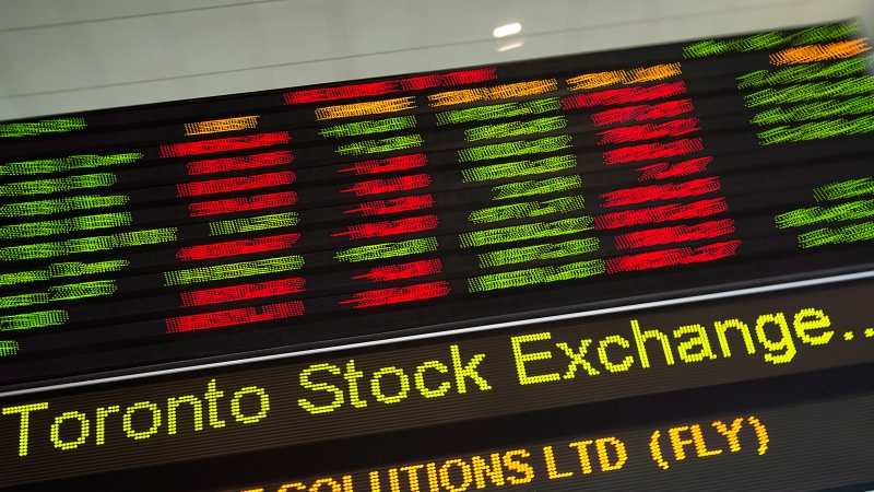 A TMX Group ticker is seen in Toronto, on May 9, 2014. (The Canadian Press/Darren Calabrese)