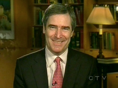 Liberal leadership candidate Michael Ignatieff appears on CTV's Question Period from Toronto, on Sunday, Dec. 7, 2008.