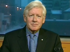 Liberal leadership candidate Bob Rae appears on CTV's Question Period from Winnipeg, on Sunday, Dec. 7, 2008.