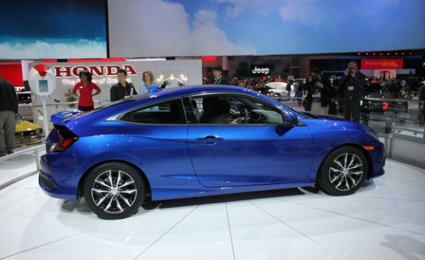 2016 honda civic coupe gets turbocharged yet improves fuel. Black Bedroom Furniture Sets. Home Design Ideas