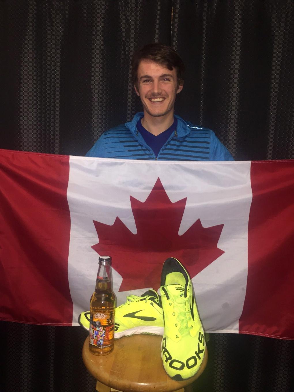 Beer Mile champion Lewis Kent