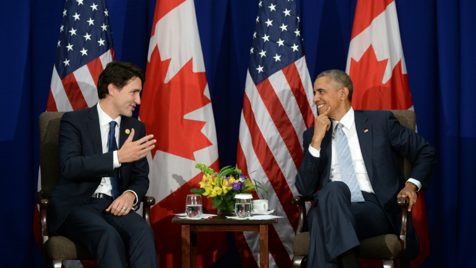 Prime Minister Justin Trudeau takes part in a bi-lateral meeting with U.S. President Barack Obama at the APEC Summit in Manila, Philippines on Thursday, Nov. 19, 2015. (Sean Kilpatrick / THE CANADIAN PRESS)