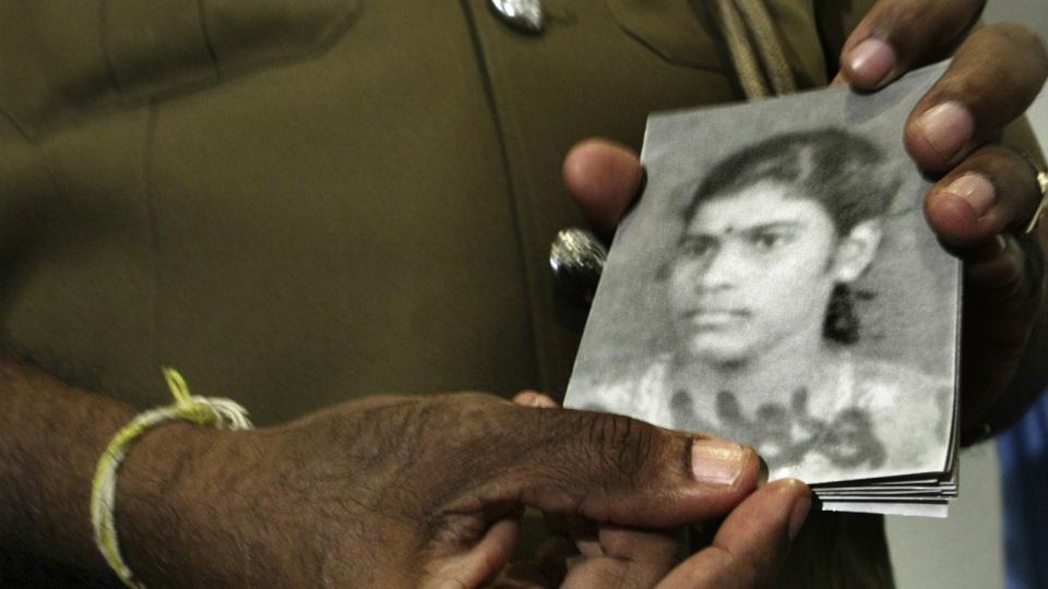 Alleged suicide bomber in Sri Lanka