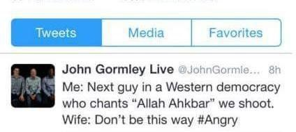 This tweet from John Gormley, which has since been deleted, led several people to call for his resignation.
