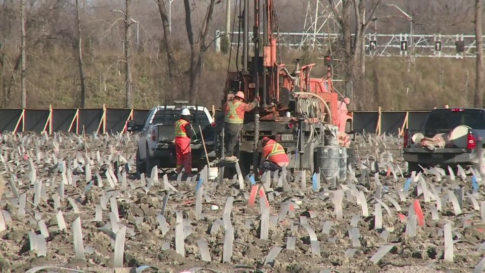 Early work at the eventual site of the Gordie Howe International Bridge is underway. Rich Garton reports.