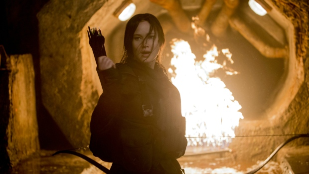 Jennifer Lawrence in 'The Hunger Games: Mockingjay - Part 2.' (Murray Close / Everett Collection)