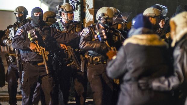 Minneapolis police respond to protest