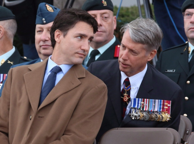 Justin Trudeau and Andrew Leslie
