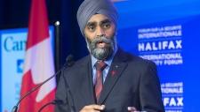 Canadian Defence Minister Harjit Singh Sajjan